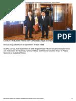 07-09-2018 Se reúne Astudillo Flores con González Anaya en Palacio Nacional.