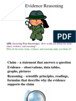 Claim Evidence Reasoning PPT