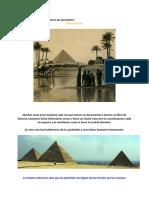 Esclavos egipcios construyeron las pirámides