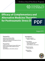 Efficacy of Complementary and Alternative Medicine Therapies