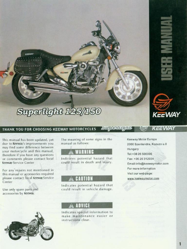 manual usuario keeway rkv 200