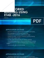 Multistoried Building Using Etab -2016