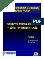 Escudos Epb de Última Generación (15 Años de Experiencias en España) - PDF