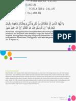 (New)BAB VII - Bagaimana Islam Membangun Persatuan Dalam Keberagamaan