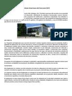 Instituto Americano Del Concreto