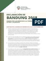 Declaración de Bandung, Indonesia 2018