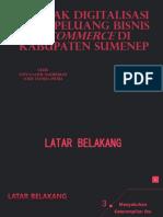 Dampak Digitalisasi Pada Peluang Bisnis E-commerce Di Kabupaten Sumenep