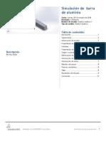 Barra de Aluminio-Análisis Estático 1-1