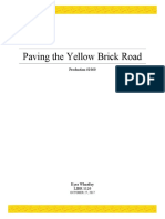 paving the yellow brick road
