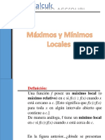 CV - Maximos y Minimos Locales