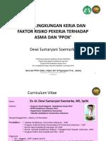 Risiko Lingkungan Kerja Terhadap Asma KErja Dan PPOK (MAret, 2017)
