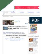Maravilhosa Massa Para Pães Salgados - Culinária-Receitas - Mauro Rebelo