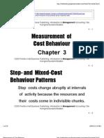 Measurement of Cost Behavior