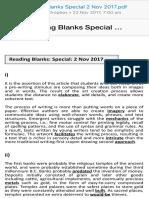 Reading Blanks Special 2 Nov 2017