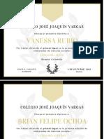 Copia de Gold & Charcoal Elegant High School Diploma Certificate