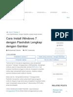 Cara Install Windows 7 dengan Flashdisk Lengkap+Gambar (Pemula)