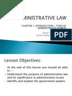 1. Administrative Law
