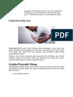 Tips dan cara menyembuhkan penyakit maag secara total