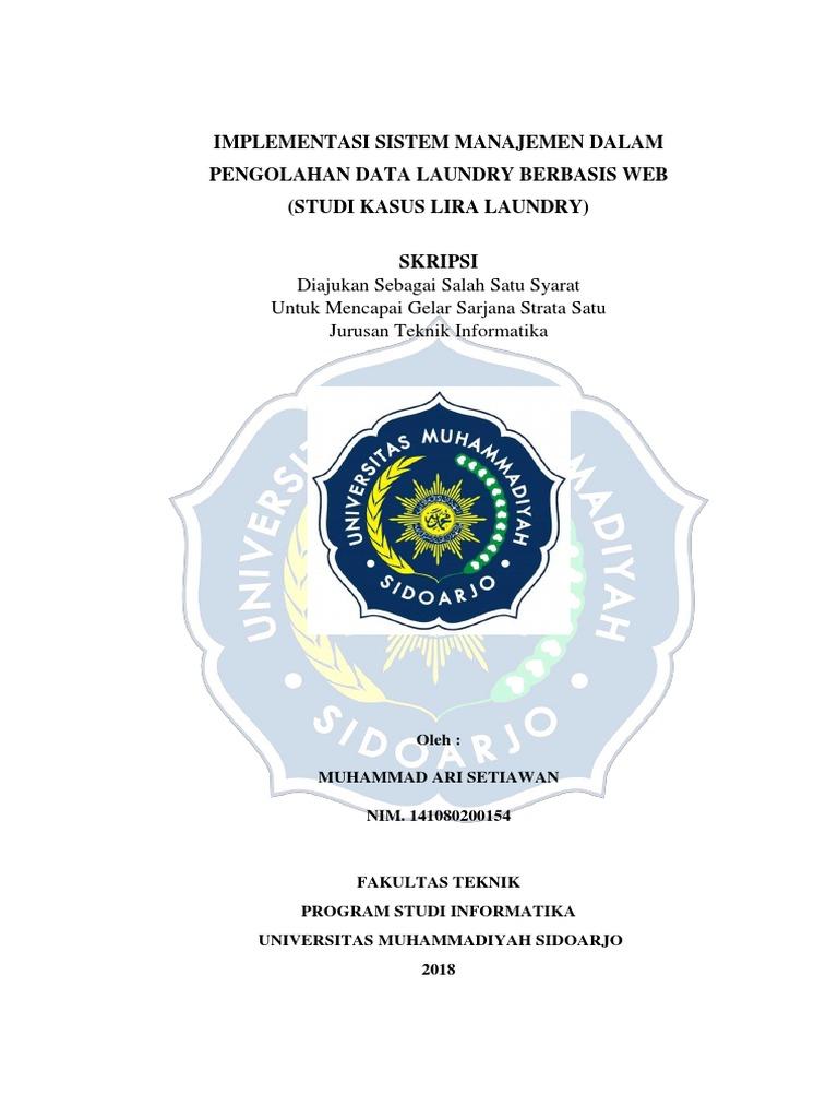 Skripsi Universitas Muhammadiyah Sidoarjo