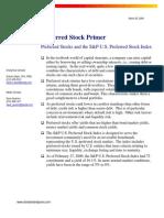 Preferred Stock Primer 2009