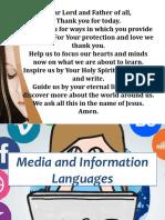 Media and Information Language 8
