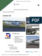 CESSNA 152 – Aeronaves – Escuela de Aviación México