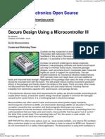 Secure Design Using a Microcontroller III