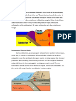 ForeArc and BackArc Basin