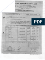 Safety Belt Test Certificate