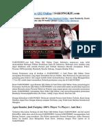 Judi Poker QQ Online | SAKONGKIU.com