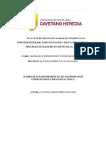 Cuadro Diferencial de Modelos de Intervención Clinicos
