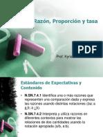 Razón, Proporción, Taza