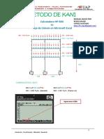 Manual Aplicación Del Metodo de Kani en Porticos