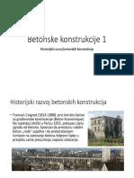 Betonske Konstrukcije 1 - Uvod