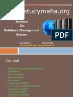 CSE Database Management System Ppt