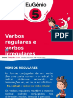 Eug5 Ppt Verbos Regulares Irregulares