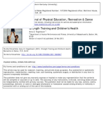 Strength Training and Children's Health - Faigenbaum 2001