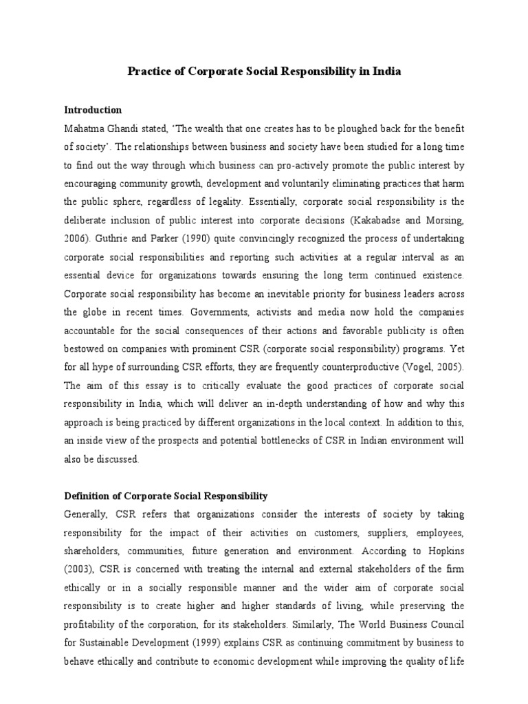 social responsibility 7 essay Disputes about the role of business in society caused too many arguments for and against social responsibility social activities of essay on social.