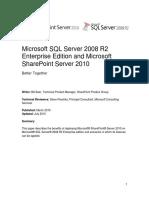 SQLServer2008R2EnterpriseEdition and SharePointServer2010 BetterTogether