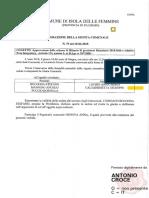2018 18 Giugno Delibera Giunta 75 Assente Caltanisetta Bilancio Previsione e Nota Integrativa 2018