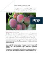 Exportaciones de Mangos