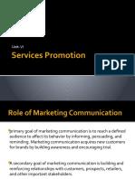 Unit VI Services Promotion