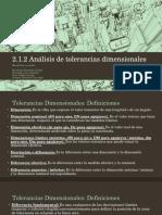 Analisis de Toleracias Dimensionales