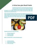 Resep Kue Pie Krim Susu Plus Buah Praktis