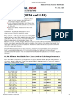 Hepa and Ulpa Particle FilterS