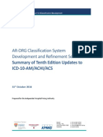 ICD-10-AM_ACHI_ACS_Summary of Updates Tenth Edition 311016