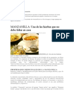 Baño de Manzanilla