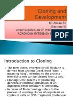 Cloning and Development