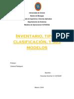 Inventario, tipos, clasificación, y sus modelos