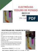 Electrólisis KI